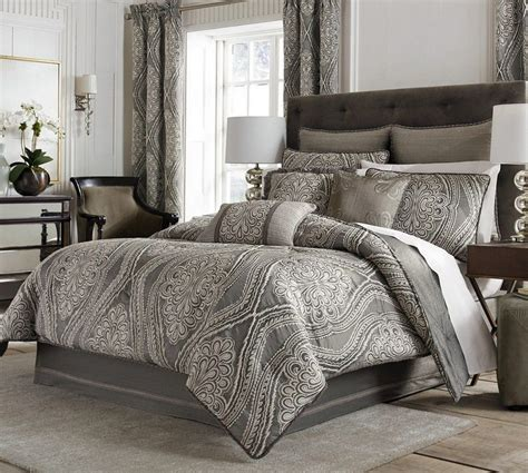 comforter set california king cal king bedding 9 pc luxury set black white grey hton