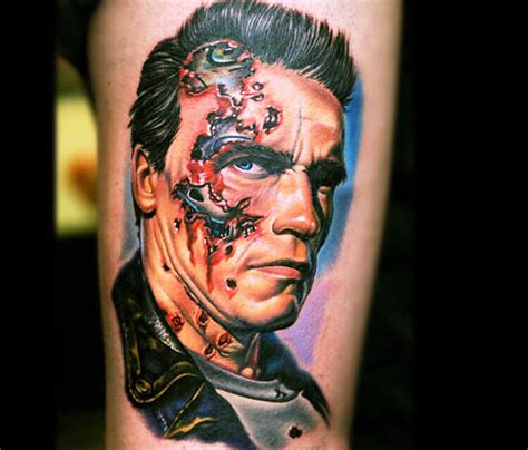 tattoo portrait of terminator by nikko hurtado no 146