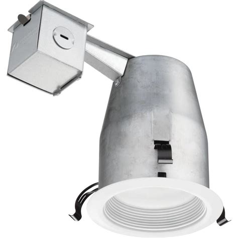 lithonia lighting 4 in matte white recessed led baffle