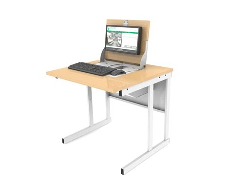 flip top computer desk versatile ict desk top tec furniture secure flip top
