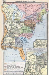 america 1783 map map of the united states 1783 1803