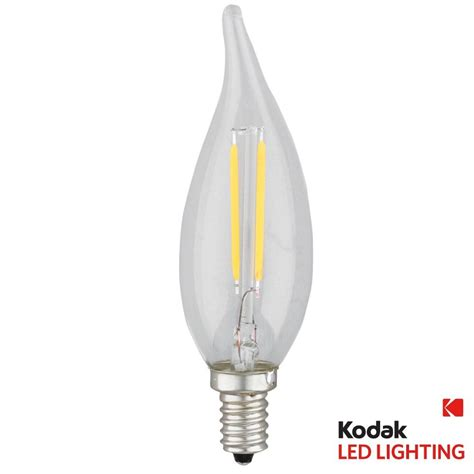 E12 Led Light Bulbs Kodak 25w Equivalent Warm White E12 Candle Tip Dimmable Led Light Bulb 41116 Ul The Home