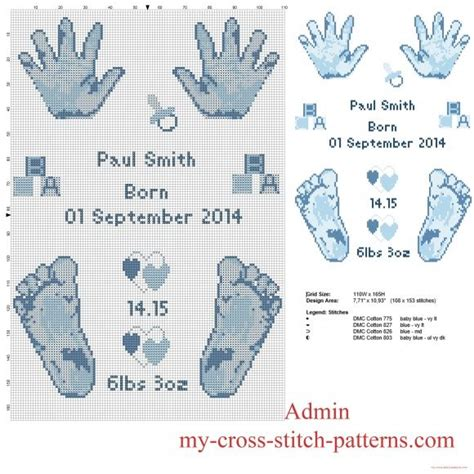 Birth Records For Free Cross Stitch Pattern Birth Record Baby And Prints Free