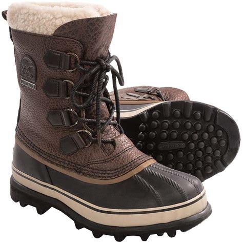 sorel caribou reserve s snow boots uk 10 0 cinnamon