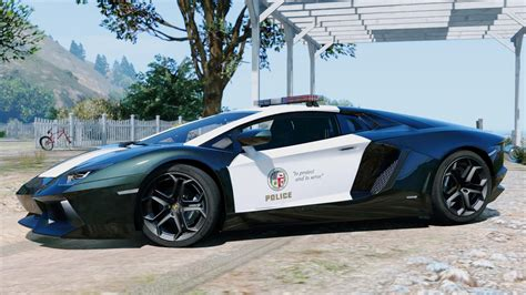 police lamborghini police lamborghini aventador automatic spoiler gta5