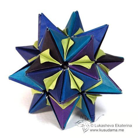Spiky Origami - kusudama me modular origami spiky sonobe unit