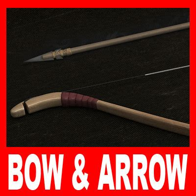 Preloved D Bow N Arrow bow arrow fbx