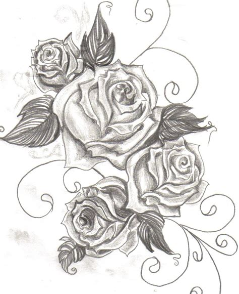 rose drawing tattoo tattoos designs ideas and meaning tattoos for you