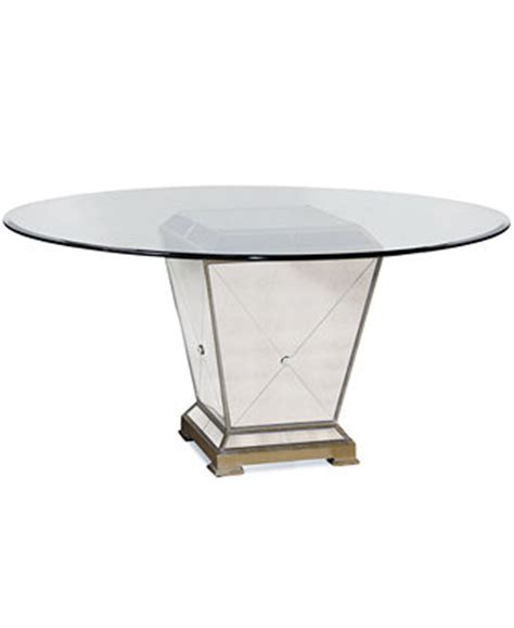 Macys Mirrored Furniture by Marais Table 54 Quot Mirrored Dining Table Furniture Macy S