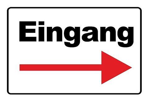 Wetterfestes Schild Eingang Mit Pfeil Nach Rechts