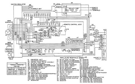 wiring diagram generator generator exciter diagram