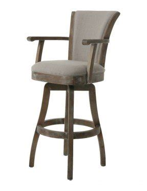 Cushioned Bar Stools With Arms Upholstered Arm Swivel Bar Stool Foter