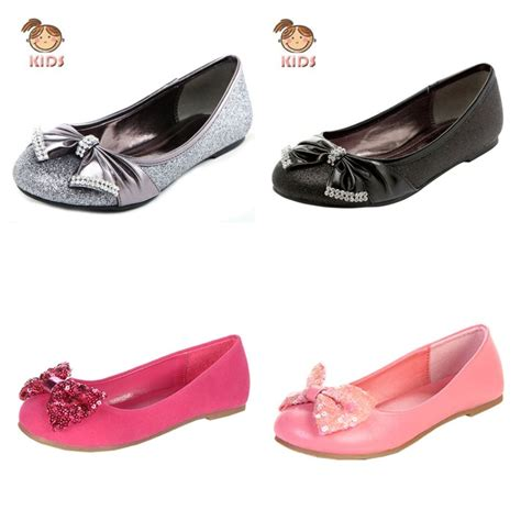flat shoes with bows new sparkle bow ballet flat shoes silver gold
