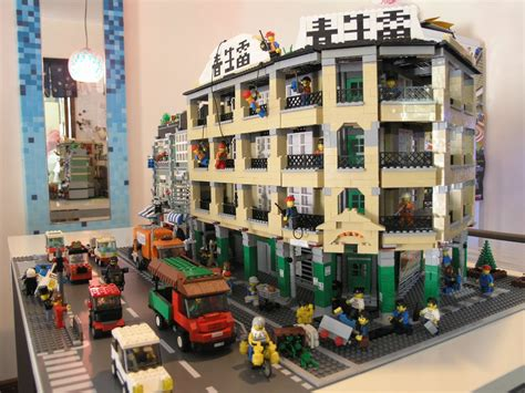 moc usonian style house lego town eurobricks forums moc hongkong style building and cars lego town