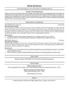 hospitality resume objective exles source