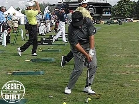 mike maves golf swing slow motion lee trevino caddy view short iron