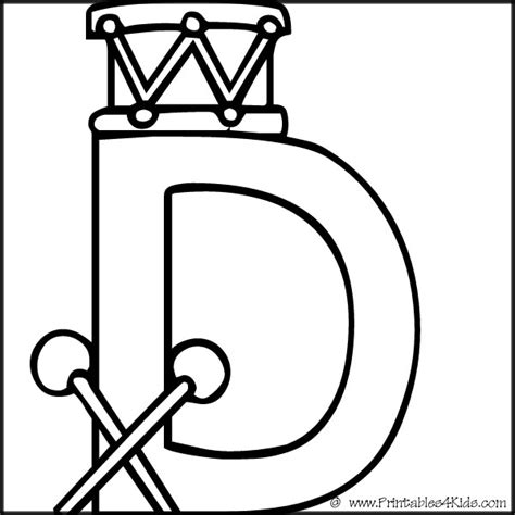 coloring page letter d free coloring pages of preschool letter d