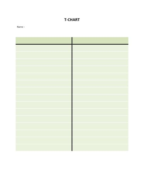 table template word t chart