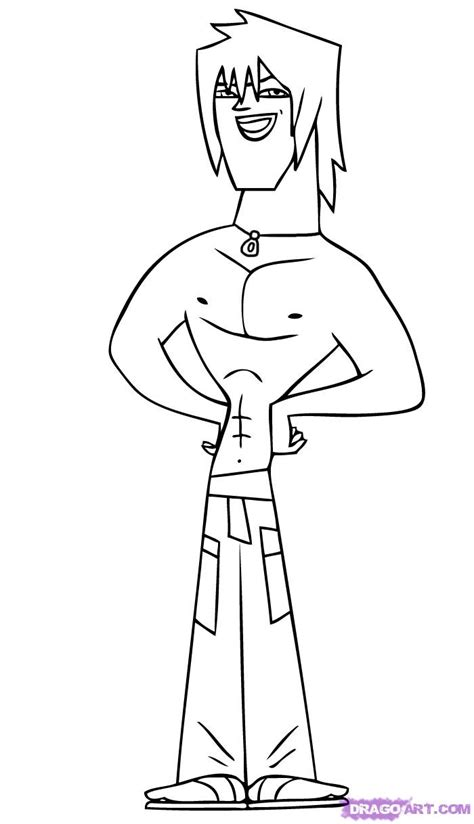 total drama action free colouring pages