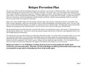 relapse prevention plan template 19 best images of relapse prevention plan worksheet