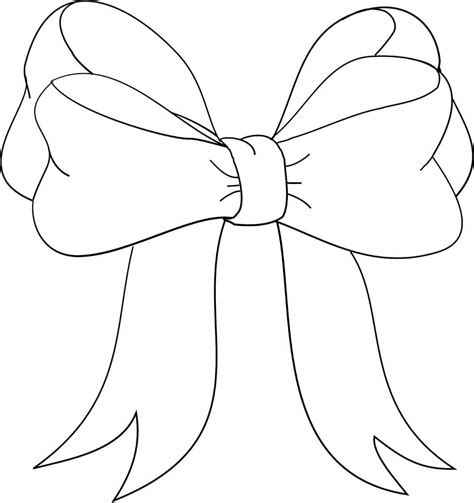 ribbon bow coloring page ribbons and bows drawings jeryboy info