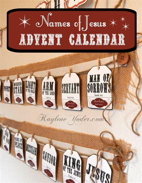 Christian Advent Calendar Names Of Jesus Advent Calendar And Pack