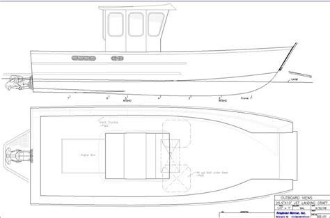 boat landing drawing response marine 26 landing craft design jet drive drawings
