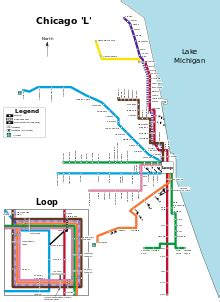 green line map chicago line cta the free encyclopedia
