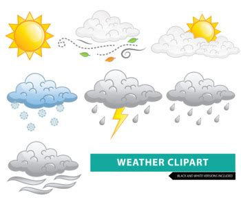 Weather Clipart by Mr Guera's Art Studio | Teachers Pay ... Free Clip Art Weather Pictures