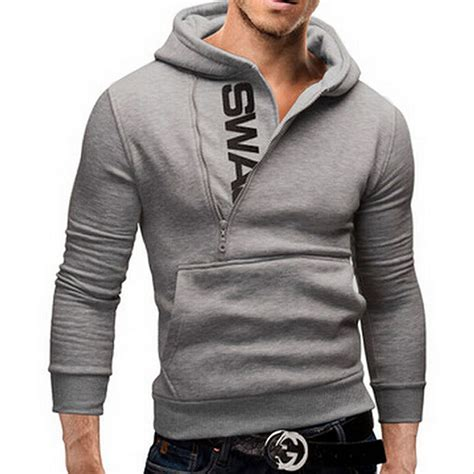 saf s fashion cardigan napping hoodies grey popular zipper design fleece hoodie jacket warm