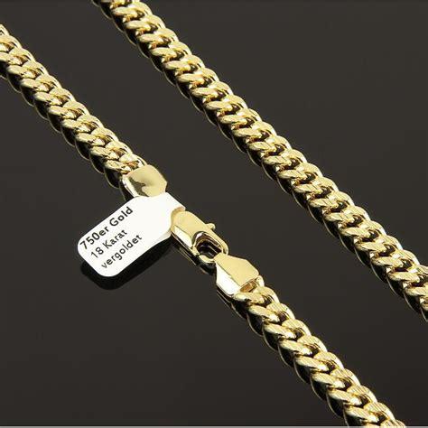 cadenas de oro mujer ebay cadena 7mm aut 233 ntico ba 209 ado en oro 750 18 quilates