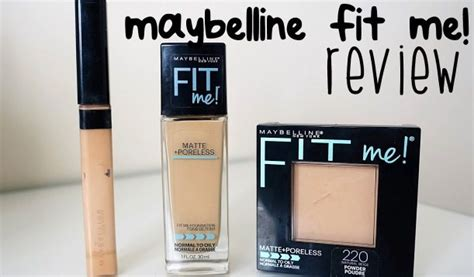 Foundation Dan Concealer Maybelline review harga maybelline fit me foundation matte