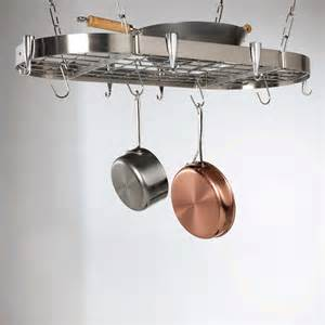 Overhead Pan Holder Concept Housewares Pr 40901 Stainless Steel Oval Ceiling