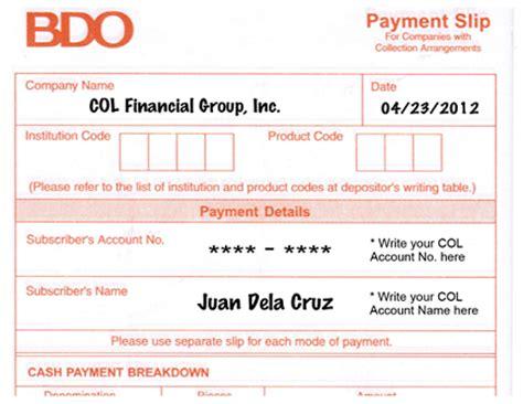 withdrawal slip template bank certificate bdo sle images certificate design