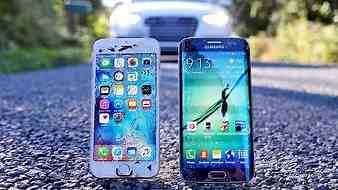 iPhone 6S vs Samsung Galaxy S6 Edge Drop Test!