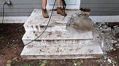 Concrete Stair Removal with Hand Tools and Power Tools