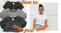 the quickest & easiest way to crop tee shirts (no sewing)