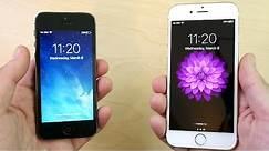 iPhone 5 vs iPhone 6 iOS 10.2.1