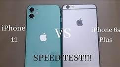 iPhone 11 VS iPhone 6S PLUS Speed Test!! ( Comparison )