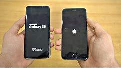 Samsung Galaxy S8 vs iPhone 6S - Speed Test! (4K)