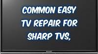 How to fix Sharp LCD TV LC- no hdmi signal, no power, no audio sound