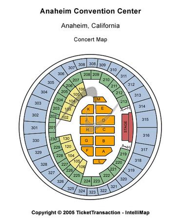 Anaheim Convention Center Seating Chart