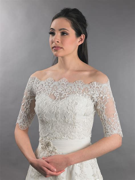 Bolero Off the Shoulder Wedding Dresses