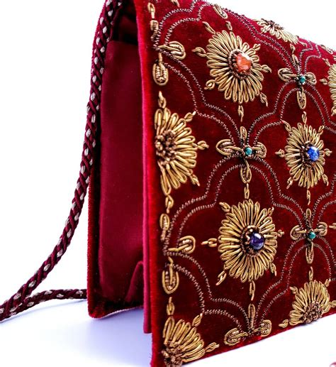 Burgundy Evening Handbags