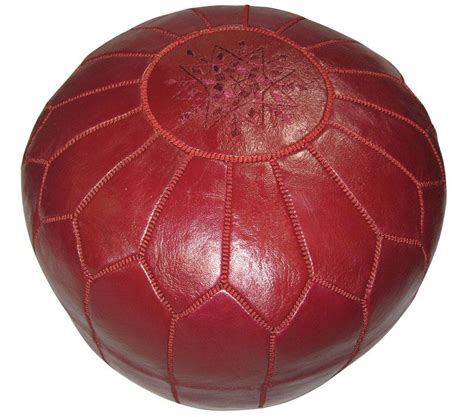 Burgundy and Gold Moroccan Poufs