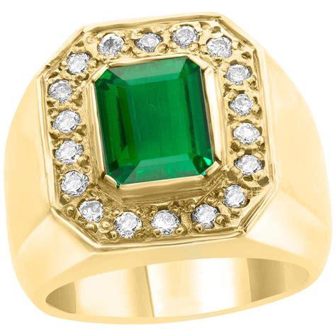 Certified Men's Emerald Rings