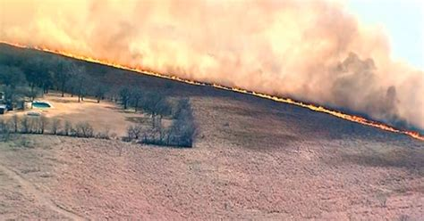 Current Grass Fires in Texas