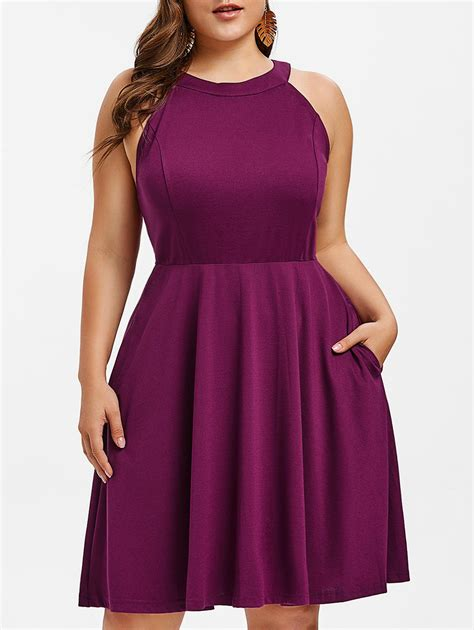 plus size fit and flare cocktail dress Page 2 gallery