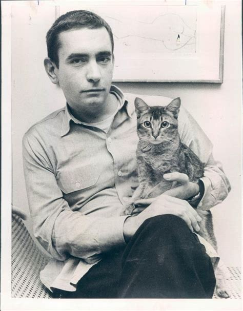 Edward Albee with Cat