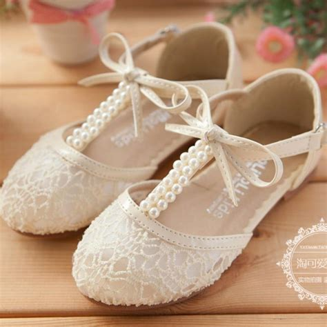 Flower Girls Lace Up Shoes